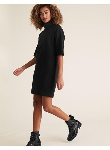 Marks & Spencer Yarım Kollu Mini Elbise Siyah